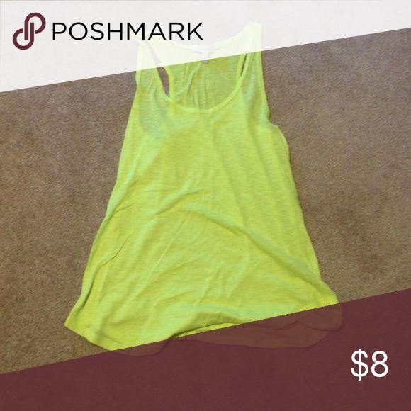 Bright yellow tank top Never worn. Bright yellow tank top. Tops Tank Tops