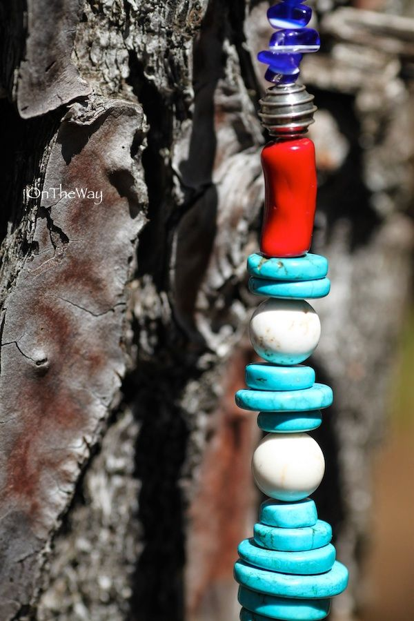 LanguWorld making jewellery. Turquoise and Red Coral.