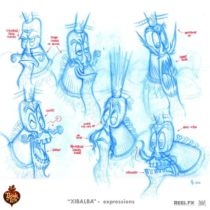 Character Design Lecture : Quot xibalba expressions i did for 'the book of life movie