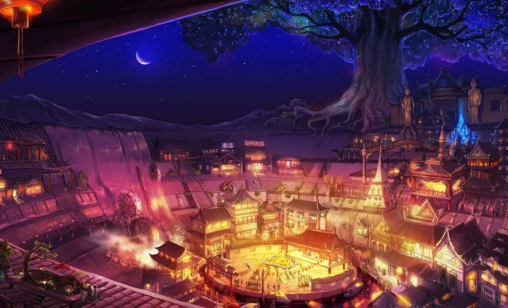 Background Town Anime Google Search Rp World