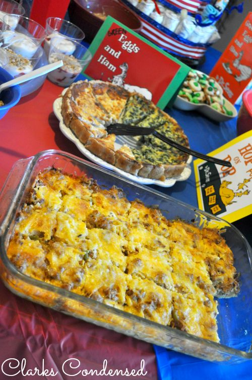 breakfast sausage & eggs bake. because we have 14 lbs of frozen sausage in our freezer...
