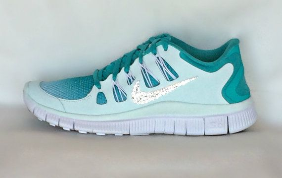 Nike Free Run 5.0 shoes Mint by HarrietHazelDesigns on Etsy