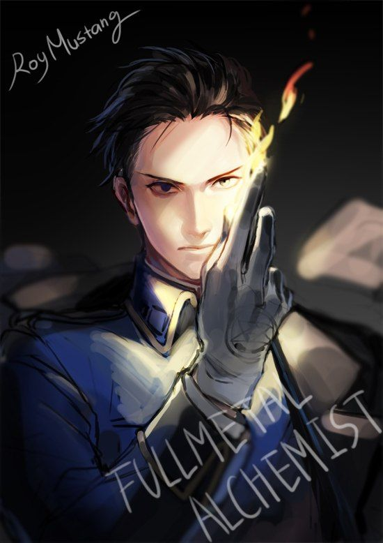 Beautiful Roy Mustang fanart. I really which the person had signed credit to them self so I could see more of their work