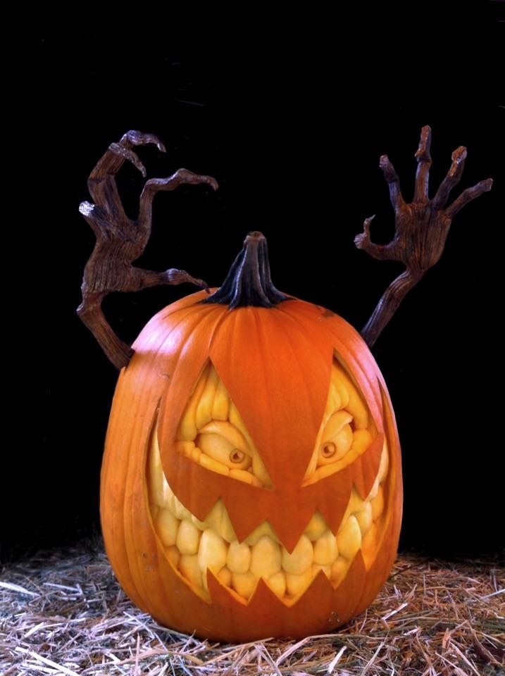 Demon Seed Jack-o-Lantern.Check out the amazing cr…