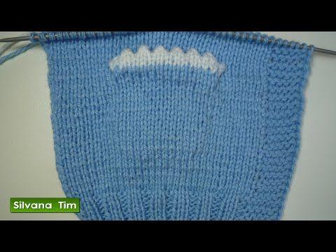 Como tejer BOLSILLO en diagonal con dos agujas.Tejido con dos agujas # 170. - YouTube
