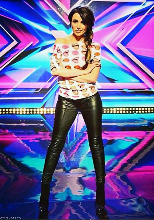 Dannii wears Carlos lips shirt, & Other Stories pants, and Sanna boots on the set of X Factor Australia.