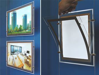 LED Light Pockets for Window Displays - the clear acrylic pockets are designed as a slim line magnetic open style frame, with glowing edges and come in a range of standard sizes, with single or double sided capabilities. This amazing product is very cost effective, low voltage, with a low energy consumption requirement and a long life that will last well over 50,000 hours.