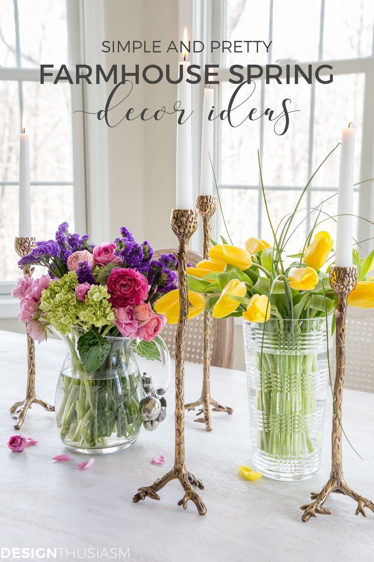 Farmhouse Spring Decor Ideas To Update Every Room In Your Home Spring Decor French Country Decorating French Vintage Decor