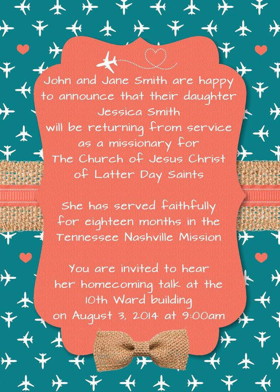 Printable LDS Sister Missionary Homecoming by NellieRoseDesigns, $10.00