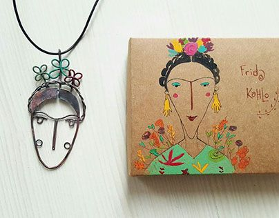 """Check out new work on my @Behance portfolio: """"Frida necklace"""" http://be.net/gallery/33270695/Frida-necklace"""