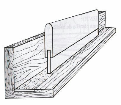 Example DIY device for sharpening squeegees - L-shaped guide with sandpaper