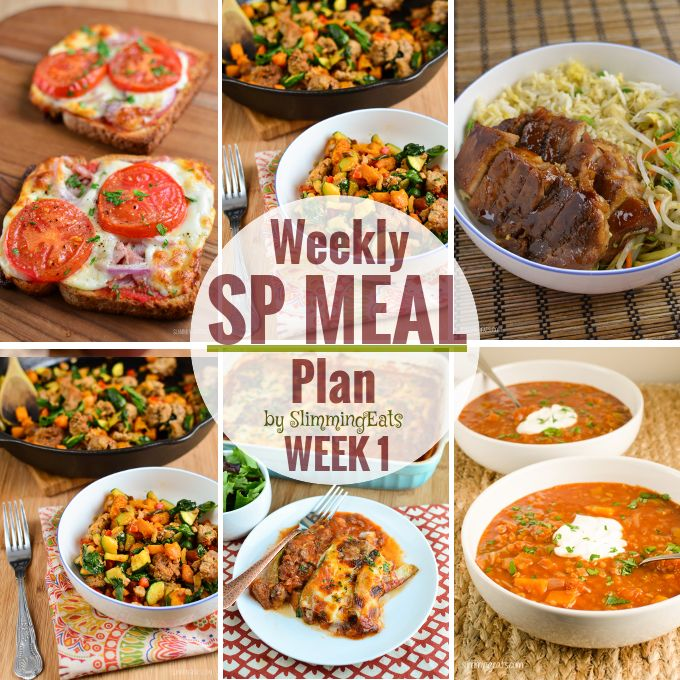 Slimming Eats SP Weekly Meal Plan - Week 1 Want to give an Slimming World SP week a try, but don