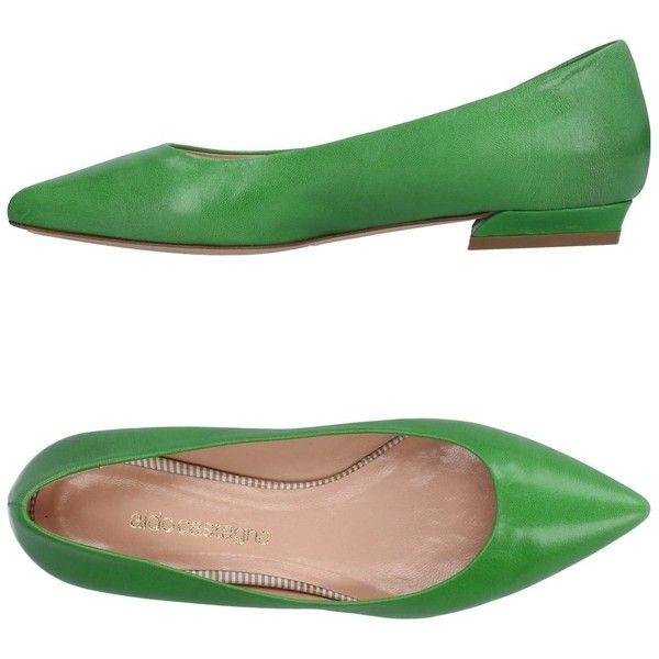 Aldo Castagna Ballet Flats (€97) ❤ liked on Polyvore featuring shoes, flats, green, green ballet shoes, green ballet flats, ballet flats, skimmer shoes and flat shoes