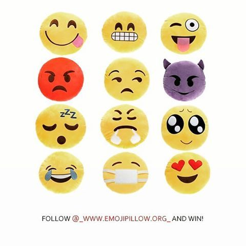 We give away 25 emoji pillow sets a month! To enter, take a photo making your best emoji face & mention @_www.emojipillow.org_  http://www.emojipillow.org #emoji #win #giveaway