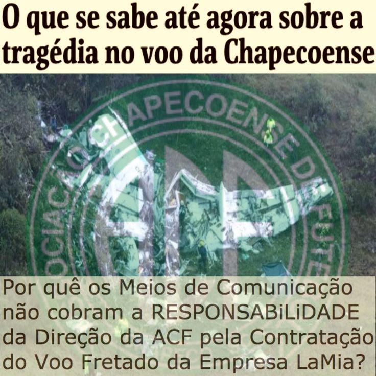Falta de Cobrança da Responsabilidade da Direção da ACF [Folha de São Paulo] http://www1.folha.uol.com.br/esporte/2016/12/1838237-o-que-se-sabe-ate-agora-sobre-a-tragedia-no-voo-da-chapecoense.shtml ②⓪①⑥ ①② ⓪④