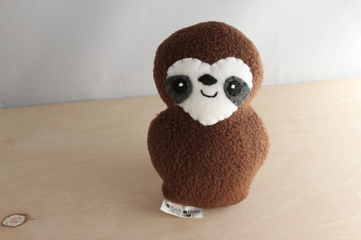 Sloth Plushie  Russell by FairweatherFriends on Etsy, $15.00