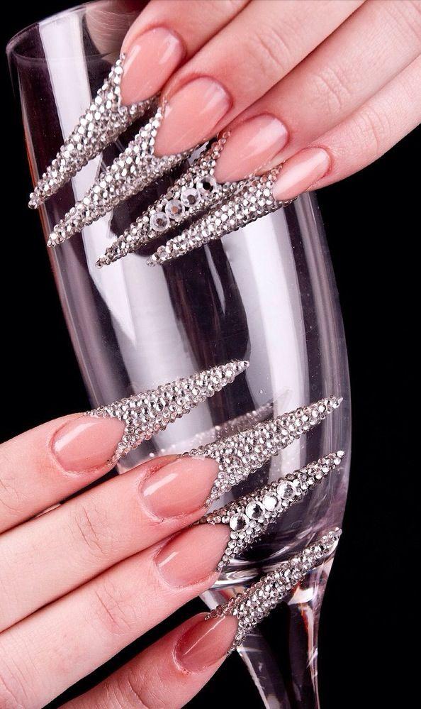 OMG!!!  Bling Stiletto Nails