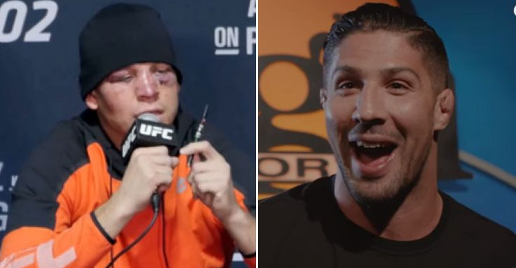 Video Watch Nate Diaz Flip Off 'Bh' Brendan Schaub Backstage At MayMac - LowKick MMA