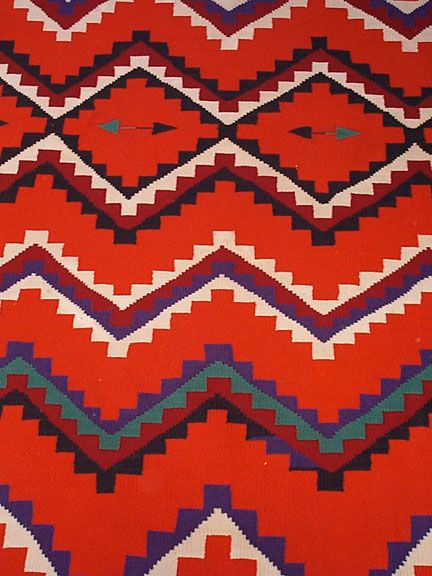 There is nothing more graphic than a one of a kind hand-made Navajo blanket. I have three - but I'd have more if I had room for them.