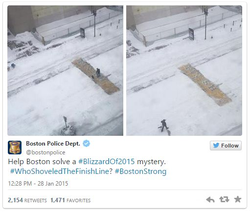 """Why a bartender cleared snow from Boston Marathon's finish line: """"But as Hillman pointed out in a telephone interview, """"I fully understand he doesn't want to be a hero. But what he did is a symbolic act because of what that plot of land means.""""  Laudani told ESPN that to him, and now to a """"ton of people,"""" the finish line """"isn't just a strip of paint in the road. It means so much more to us as a community of Boston and of runners."""""""""""
