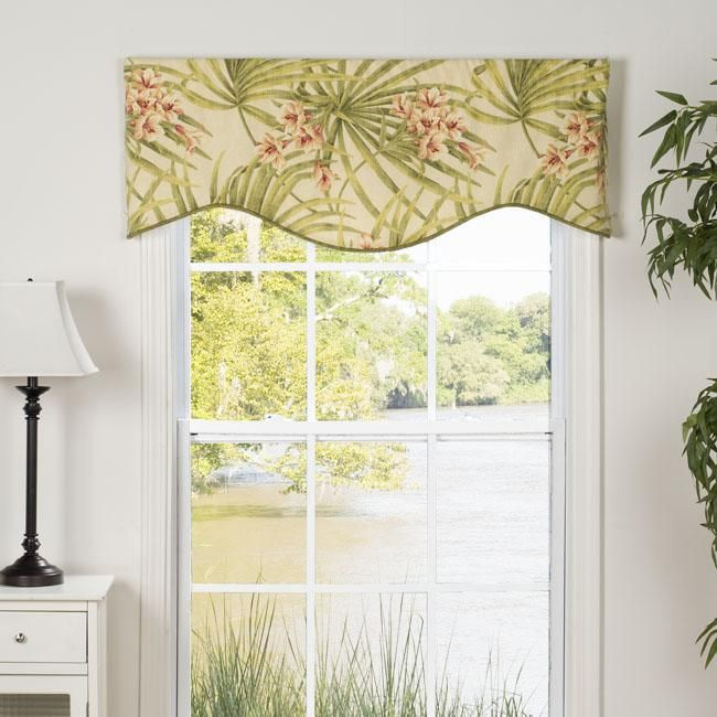 This Amelia Valance Showcases A Bright Tropical Floral