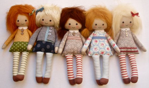 """Reserved for Jennifer  2 x custom cloth doll design your by Lybo   11"""""""