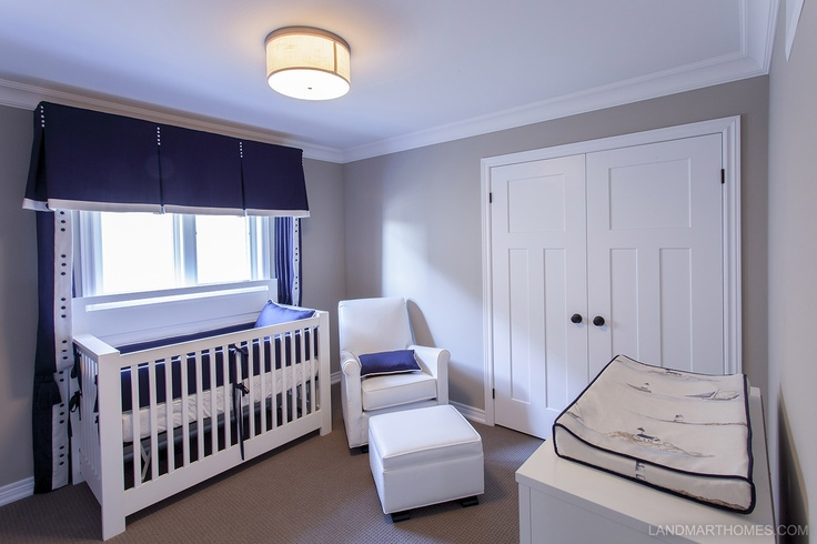 A bright nursery ready for your family's new addition. Penny Lane Estates in Stoney Creek, Ontario. By Landmart Homes. #hamont #bedroomideas