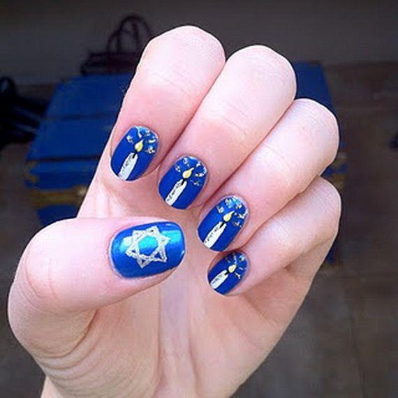 Hanukkah Nail Art Designs My Style Pinterest Nails And