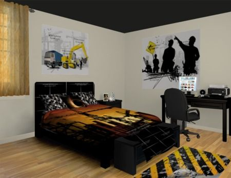 75 best images about popular bedroom ideas on pinterest for Construction themed bedroom ideas
