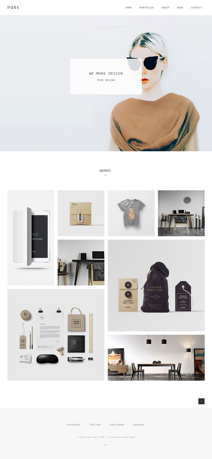 Pure is Premium #Muse Multipurpose Template. #ParallaxScrolling. #RevolutionSlider. Font Awesome. CSS3 Animation. Test free demo at: http://www.responsivemiracle.com/pure-premium-responsive-creative-portfolio-muse-template/