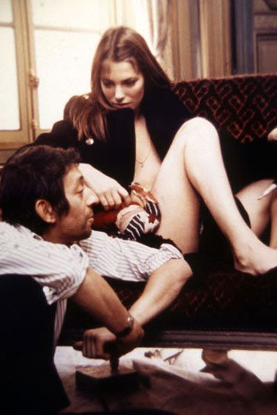 Jane Birkin and Serge Gainsbourg at their home in 1968