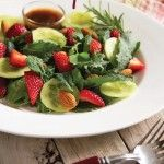 SippitySup Baby Kale Strawberry Salad- From My Garden to My Plate - SippitySup