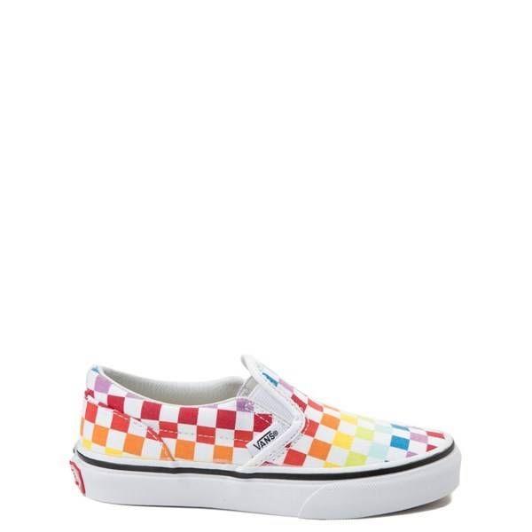 515350 Youth Vans Slip On Rainbow Chex Skate Shoe Multi Vans Slip On Vans Skate Shoes