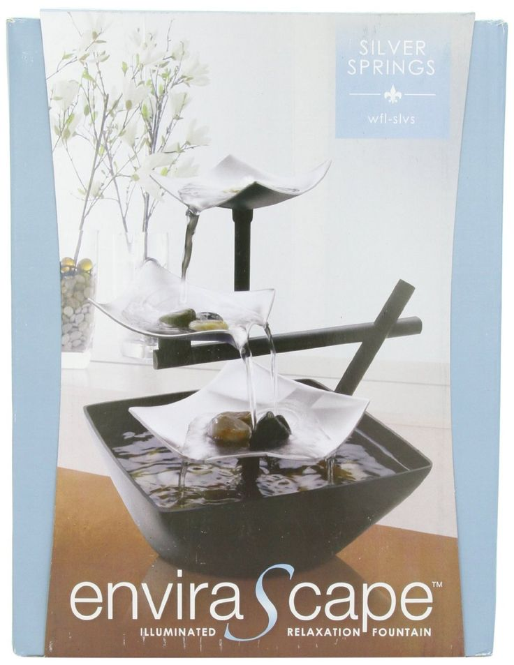 Amazon.com: HoMedics WFL-SLVS Envirascape Silver Springs Illuminated Relaxation Fountain with Natural Stones: Health & Personal Care