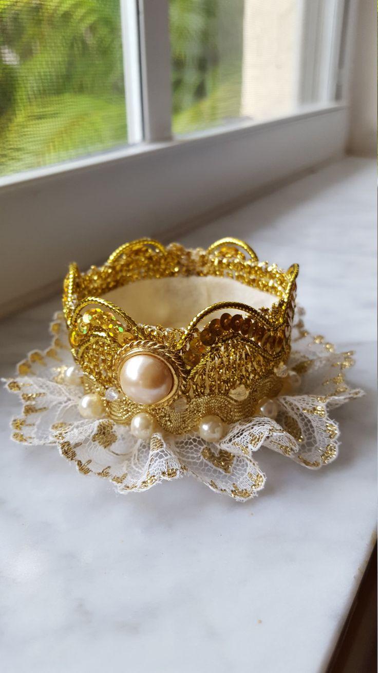 Baby crown headband, 1st birthday headband, gold tiara headband, princess tiara, baby crown, 1st birthday crown, gold crown headband by ChiksCollections on Etsy