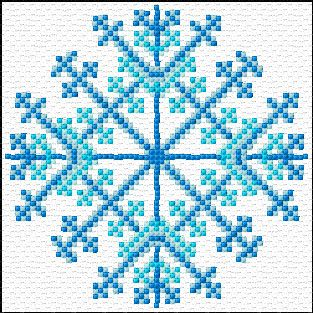 Cross Stitch | Snoflake xstitch Chart | Design