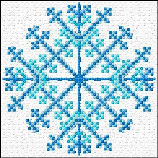 Cross Stitch | Snoflake xstitch Chart | Design