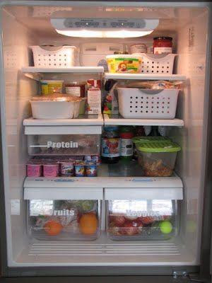 organized frig: Refrigerators, Organizations Ideas, Clean, Vinyls Letters, Baskets, Organizations Fridge,  Icebox, Fridge Organizations, Refrig Organizations