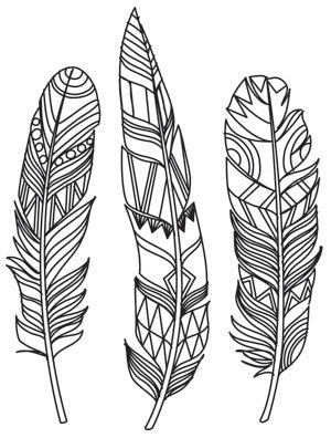 Doodle Feathers | Urban Threads: Unique and Awesome Embroidery Designs