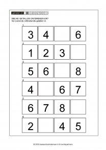 ontbrekende getallen 012