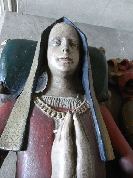 Lady Anne Howard. Sister of Henry Vlll's mother, and also Great Aunt to Anne Boleyn, on her fathers side...it was all very 'close' concerning the marriages of the Nobility!! She was buried at Thetford, but later was relocated to Framlingham.