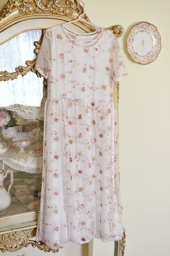 Gorgeous Vintage April Cornell Embroidered Lace Child's Dress
