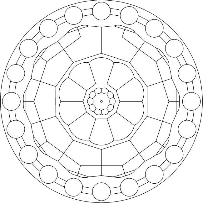 Simple Mandala Coloring Sheet
