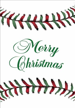 Baseball Stitches Christmas Cards Very cute for a baseball family! Photo with your www.texastimber.com baby bat!
