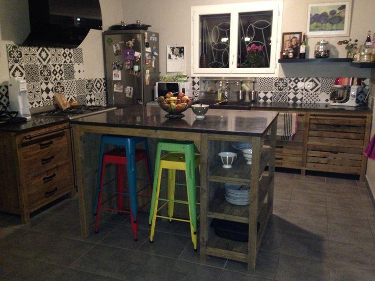 les 17 meilleures images propos de reno cuisine sur pinterest bois gatsby et r novation. Black Bedroom Furniture Sets. Home Design Ideas