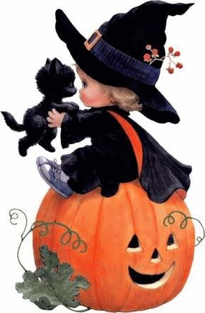witch.quenalbertini: Little Halloween Witch by Ruth Morehead