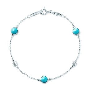 Elsa Peretti® Color by the Yard bracelet in sterling silver with turquoise.AU$1,450