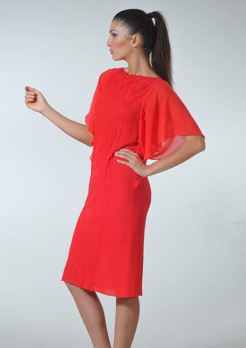 Выкройка платья со свободными рукавами