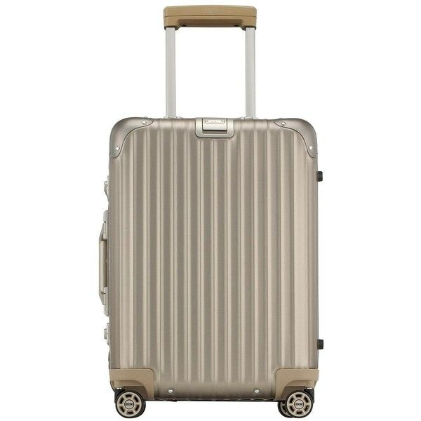Rimowa North America Topas Titanium Cabin Multiwheel IATA 52 (€1.160) ❤ liked on Polyvore featuring bags and titanium