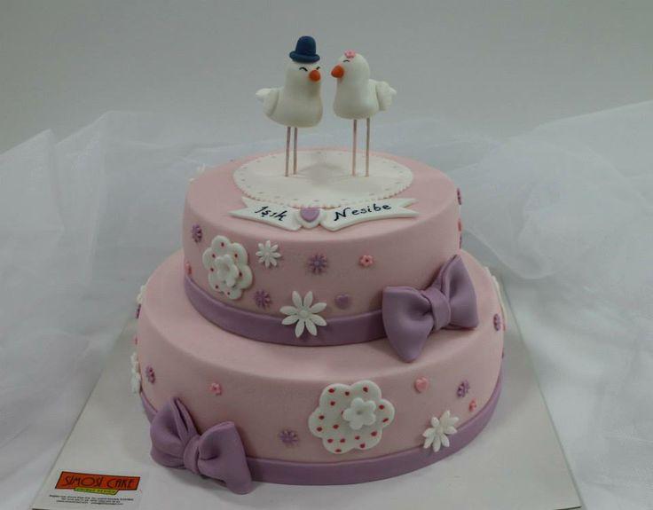 kumrulu nişan pastası